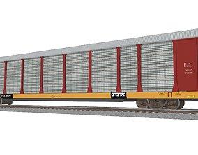 3D Train Car - Car Carrier - BNSF Autorack