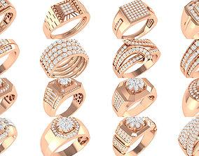 90 wide men groom ring band 3D