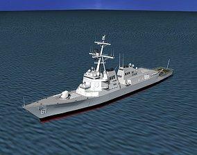 Burke Class Destroyer DDG 61 USS Ramage 3D