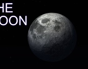 3D model The Moon space