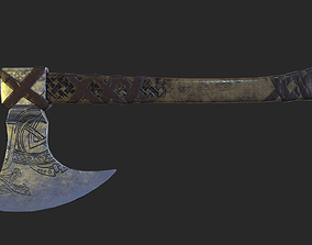 3D asset realtime Viking Axe