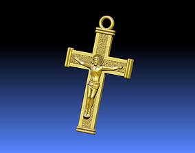Cross ortodox 3D print model jewelry