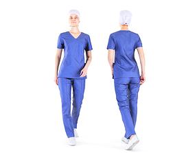 3D model Surgical nurse 07
