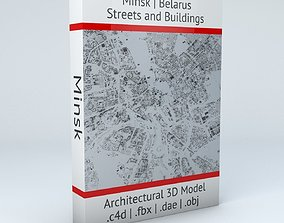 3D model Minsk Streets and Buildings