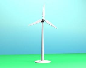 Wind power 3D asset