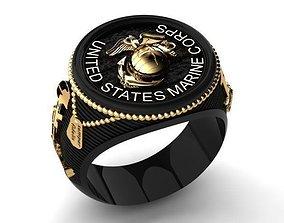 USMC Ring 3D printable model