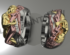 3D print model Adam and Eve ring