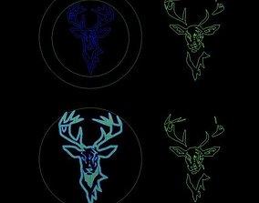 3D print model deer linear