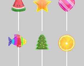 juicy Lollipop Candy 3D