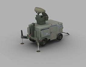 3D model Skyguard Radar area defense system