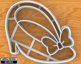 3D print model Minnie Mouse Shoe with Bow Cookie