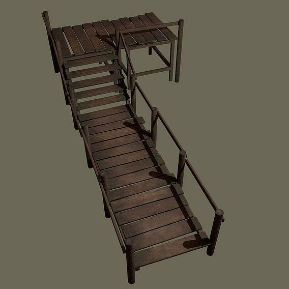 Medieval Wooden Walkway
