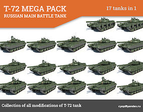 3D model T-72 MEGA PACK all modifications of this tank 17