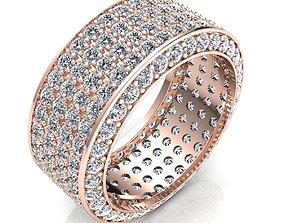 Woman Ring 3d Pring Model platinum
