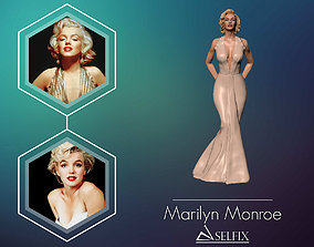 Marilyn Monroe 3D Model ready for 3d print