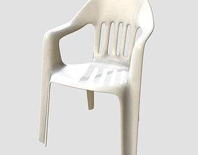 Low Poly PBR Garden Chair 3D asset