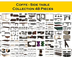 3D model Coffe - Side table Collection 48 Pieces