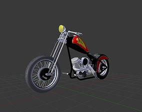 low-poly Custom Bike Chopper 3D model