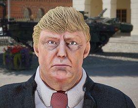 3D asset rigged President Donald Trump GameReady model