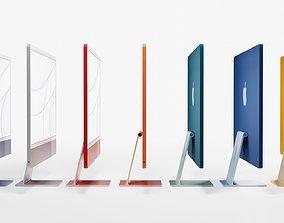 3D model iMac 2021 7 colors