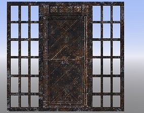 3D asset Rusty gate with bars