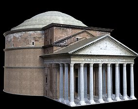 3D model Pantheon with interior