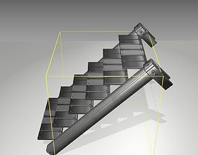 3D model Futuristic Stairs - 14 - Basic