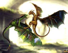 animated 3Dfoin - Wyvern