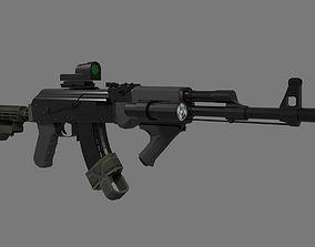 Tactical AK47 3D asset