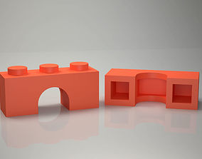 Lego brick arch 1x3 Printable Low Poly Lego ready for