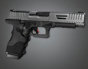 FPS Modern Handgun - MHG - Kobra - PBR Game Ready 3D asset