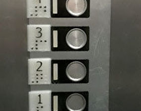 3D printable model Braille elevator numbering buttons