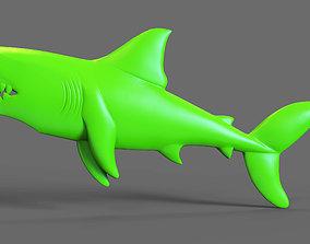 Shark Bass Relief 3D print model