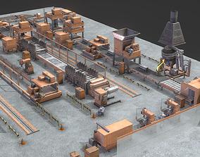 3D asset Industrial Factory Equipment