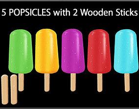 POPSICLES 3D asset