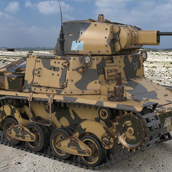 Tank L6 40 Camouflage Ansaldo Fiat Italian Vray