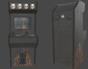 3D model low-poly Arcade Machine