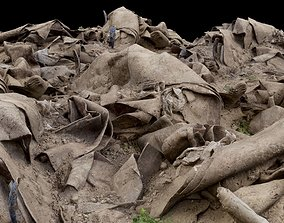 Pile of Carpet and Sand Rubble Debris 3D asset