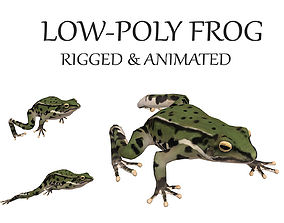 animated frog 3D model