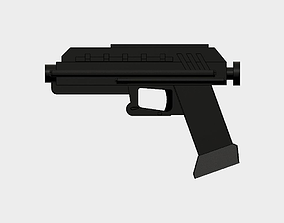 Realistic Star Wars DC-17s Pistol with 3D printable model