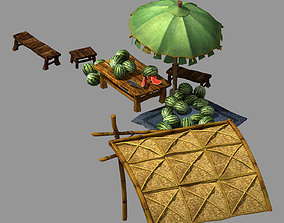 3D model East City-Watermelon Stand 05