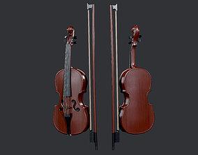 3D model Violin Instrument Game Ready 01