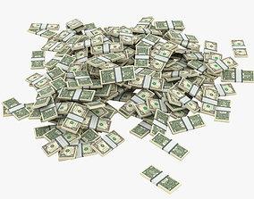 3D model Piles of Money 002