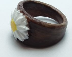 Ring with embedded daisy 3D print model