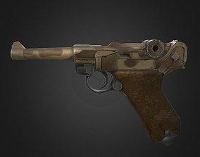 3D asset P08 Gun-weapon model
