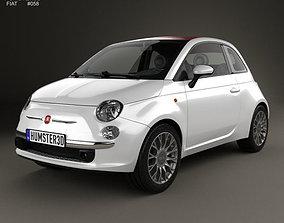 Fiat 500 C 2009 3D