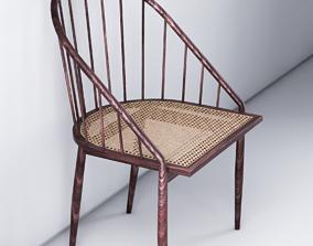 Joaquim Tenreiro- Curved Chair - Cadeira Curva 3D model 2