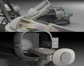 Sci Fi Cryo and Med Pods 3D model