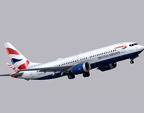 3D model Boeing 737 MAX-8 British Airways