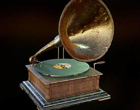 Gramophone PBR 3D model